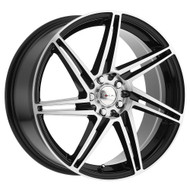 Focal ® 449U F-14 Wheel 16X7 Black Diamond Cut 5X108 40mm | 449-6715U+40