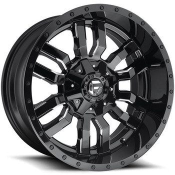 Fuel ® Sledge D595 Wheel 20X10 Black Milled 6X135 6X5.5 -18mm | D59520009847