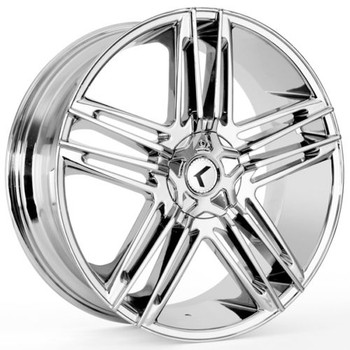 Kraze ® Hella 157 Wheel 22X8.5 Chrome 5X108 & 5X4.5 (5X114.3) 40mm | KR157-228514C