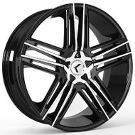 Kraze ® Hella 157 Wheel 22X8.5 Machined Black 5X108 & 5X4.5 (5X114.3) 40mm | KR157-228514BM