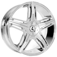 Kraze ® Hype 158 Wheel 20X8.5 Chrome 5X108 & 5X4.5 (5X114.3) 40mm | KR158-28514C