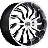 Kraze ® Scrilla 142 Wheel 26X10 Machined Black 5X127 (5X5) & 5X5.5 (5X139.7) 18mm | KR142-261025BM