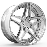 Rosso Reactiv 701 Wheels Rims Chrome 22x8.5 5x115 15 | 7012281515C