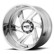 Moto Metal MO400 Forged Monoblock 24x12 8x6.5 (8x165.1) Polished Wheels Rims -44 | MO40024280144NR