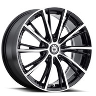 Konig Impression 53MB 16x7.5 5x108 Black Machined Wheels Rims 40 | 53MB-IP76508405
