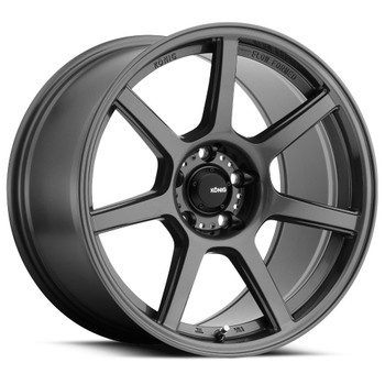 Konig Ultraform 54GG 17x8 4x100 Graphite Gray Wheels Rims 45 | 54GG-UF87100456