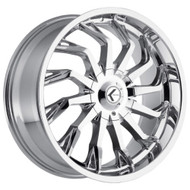 Kraze Scrilla KR142 Wheels Rims Chrome 26x10 5x115 5x120 18 | KR142-261028C