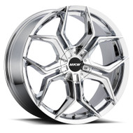MKW M121 20x8.50 5x100 5x108 Chrome Wheels Rims 35 | M121-2085000535C