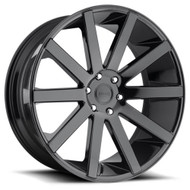 DUB® S219 Shot Calla Wheels Rims 24x10 5x5.5 (5x139.7) Black 25 | S219240085+25