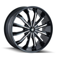 Mazzi® Fusion 341 Wheels Rims 20x8.5 5x108 5x4.5 (5x114.3) Black Machined 35 | 341-2814B