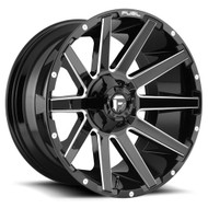 Fuel® D615 Contra Wheels Rims 26x12 5x127 (5x5) 5x5.5 (5x139.7) Black Milled -44  | D61526205747