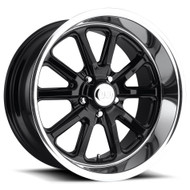 US Mags® U121 Rambler Wheels Rims 22x11 5x127 (5x5) Black 18 | U12122117367