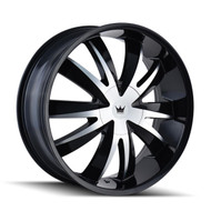 Mazzi® Edge 337 Wheels Rims 18x7.5 5x108 5x4.5 (5x114.3) Black Machined 40 | 337-8714B