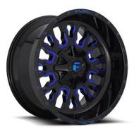 Fuel® D645 Stroke Wheels Rims 20x10 8x6.5 (8x165.1) Black Milled Blue -18  | D64520008247
