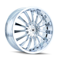 Mazzi® Hype 351 Wheels Rims 18x7.5 4x100 4x4.5 (4x114.3) Chrome 40 | 351-8701C