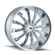 Mazzi® Fusion 341 Wheels Rims 18x7.5 5x108 5x4.5 (5x114.3) Chrome 40 | 341-8714C