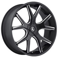 Kraze Splitz 146 Wheel 26x10 5x127 (5x5) 5x5.5 (5x139.7) Black Milled 18MM - MINIMUM PURCHASE OF 4 WHEELS