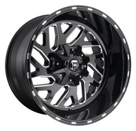 Fuel® D581 Triton Wheels Rims 26x12 8x6.5 (8x165.1) Black Milled -44  | D58126208247