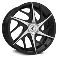 Kraze Rogue 182 Wheel 20x8.5 5x112 5x4.5 (5x114.3) Black Machined 40MM