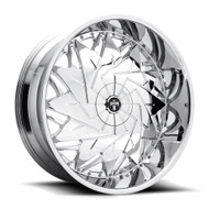 DUB?« S235 Dazr Wheels Rims 26x10 5x4.75 (5x120.65) 5x127 (5x5) Chrome 5 | S235260008+05