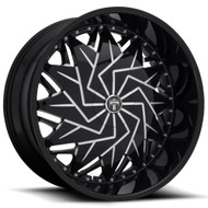 DUB?« S231 Dazr Wheels Rims 26x10 5x115 5x120 Black Milled 5 | S231260022+05