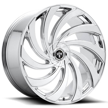 DUB?« S238 Delish Wheels Rims 24x9 5x4.75 (5x120.65) 5x127 (5x5) Chrome 1 | S238249008+01