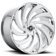 DUB?« S238 Delish Wheels Rims 24x10 5x4.75 (5x120.65) 5x127 (5x5) Chrome 5 | S238240008+05