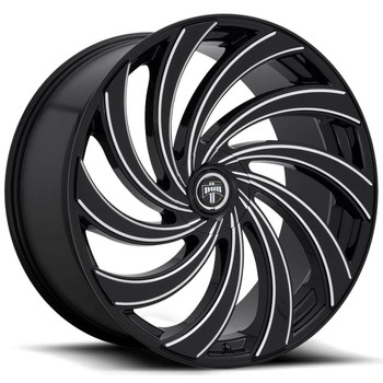 DUB?« S239 Delish Wheels Rims 24x9 5x4.75 (5x120.65) 5x127 (5x5) Black Milled 1 | S239249008+01