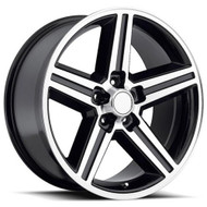 Replica® Iroc Replica R148 Wheels Rims 22x9 5x115 Black Machined 15 | R148-251515GBM