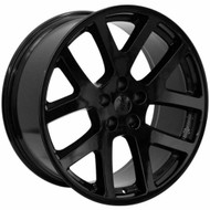 Replica® Srt10 Replica R107 Wheels Rims 22x9 5x115 Gloss Black 15 | R107-251515GB