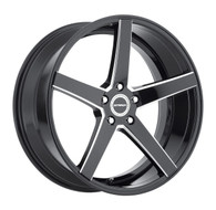 Strada® Perfetto S35 Wheels Rims 26x10 5x115 Black Milled 15 | S35651515GBML