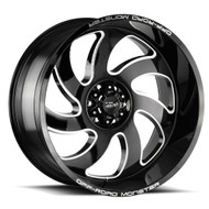 Off-Road Monster® M07 Wheels Rims 20x10 6x5.5 (6x139.7) Gloss Black Milled -19  | M070639N19GBML