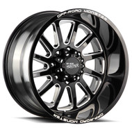 Off-Road Monster® M17 Wheels Rims 20x10 6x5.5 (6x139.7) Black Milled -19  | M170639N19GBML