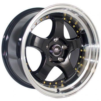 MST Wheels® MT07 Wheels Rims 17x9 5x4.5 (5x114.3) Black w/ Machined Gold Rivets 20 | 07-7965-20-BKGL