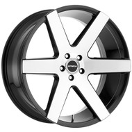 Strada® Coda S60 Wheels Rims 26x10 5x127 (5x5) Black Machined 25 | S60652725GBM