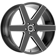 Strada® Coda S60 Wheels Rims 26x10 5x127 (5x5) Black Milled 25 | S60652725GBML