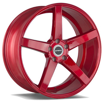 Strada® Perfetto S35 Wheels Rims 20x8.5 5x108 Candy Red 35 | S35050835R