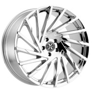Xcess® X02 Wheels Rims 20x8.5 5x4.5 (5x114.3) Chrome 35 | X02051435