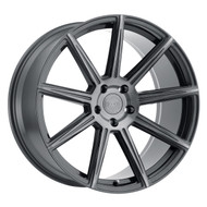 XO Luxury® Vegas Wheels Rims 21x10.5 5x112 Gunmetal 38 | 2105VGS385112G66