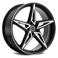 Revolution Racing® RR17 Wheels Rims 20x8 5x112 Black Machined 40 | RR17-208512+40BM