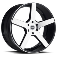Strada® Perfetto S35 Wheels Rims 18x8 5x100 Black Machined 40 | S35850040GBM