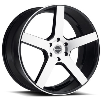 Strada® Perfetto S35 Wheels Rims 18x8 5x108 Black Machined 40 | S35850840GBM