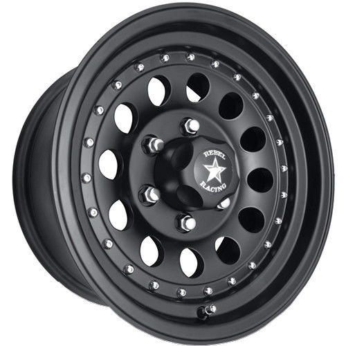 Rebel Racing Bandit II Wheel 15x7 6x5 5 (6x139 7) Matte Black -6 MM-FREE  LUGS - ON SPECIAL FOR A LIMITED TIME!!