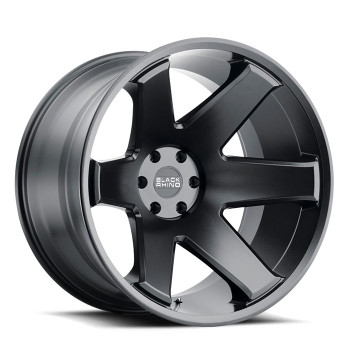 Black Rhino® Raze Wheels Rims 22x14 8x6.5 (8x165.1) Matte Black -76  | 2214RZC-68165M22
