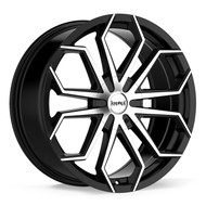 Kronik® Spider 414 Wheels Rims 18x7.5 6x120 6x132 Gloss Black Machined 38 | 4148756138MB