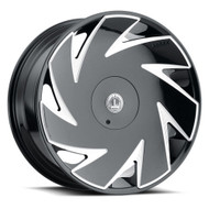 Luxxx Alloys LUX 21 Wheel 26x9.5 5x115 5x127 (5x5) Gloss Black Milled 15MM - MINIMUM PURCHASE OF 4 WHEELS