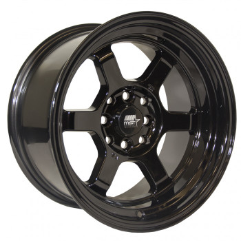 MST Wheels® MT01 Time Attack Wheels Rims 15x8 4x100 4x4.5 (4x114.3) Black 0 | 01T-5816-0-BLK
