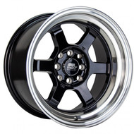 MST Wheels® MT01 Time Attack Wheels Rims 15x8 4x100 4x4.5 (4x114.3) Black w/ Machined 0 | 01T-5816-0-BLKL