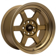 MST Wheels® MT01 Time Attack Wheels Rims 15x8 4x100 4x4.5 (4x114.3) Matte Bronze w/ Bronze Machined 0 | 01T-5816-0-BRBL