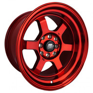 MST Wheels® MT01 Time Attack Wheels Rims 15x8 4x100 4x4.5 (4x114.3) Ruby Red 0 | 01T-5816-0-FRED